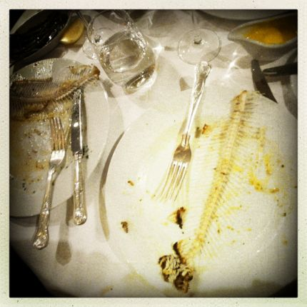 Remains: Fish bones
