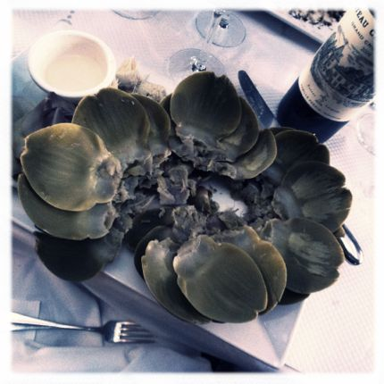 Remains: Steamed artichoke